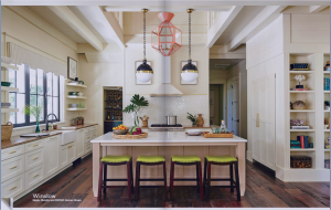 kitchen-cabinets-in-dalton-ga-cream-kitchen-blush-island-lime-seat cushions