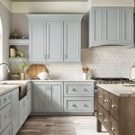 kitchen-remodel-in-Dalton-ga-kraftmaid-seafoam-blue-maple-cabinets-kitchen-island